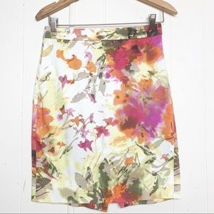 J Crew Factory The Pencil Skirt Floral watercolor